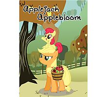 The Best Sisters are Applejack and Applebloom poster Photographic Print
