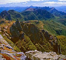 Arthur Range from Federation Peak by Kevin McGennan