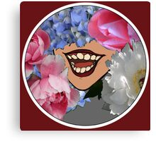 Flowery Grin Canvas Print