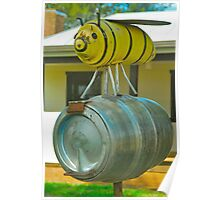 Bee on a Barrel  Poster