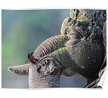 Ganesha with dragonfly Poster