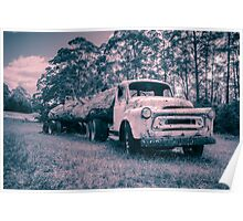 Vintage Truck Toned Poster