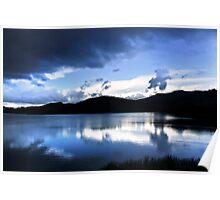 Cloud-break at Lake Tutira Poster
