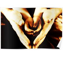 hands and hearts Poster