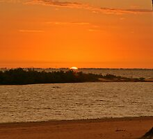 Sun Set in Fort Myers Beach  Florida USA by Keith Larby