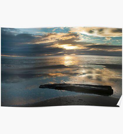 Washed Up - Etty Bay sunrise Poster