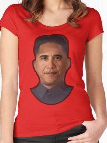Obama-Kim Jong Un Women's Fitted Scoop T-Shirt
