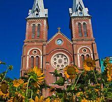 Vietnam. Ho Chi Minh City. Notre-Dame Basilica. by vadim19