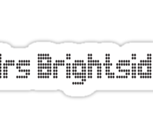 Mrs Brightside (The Killers T Shirt) Sticker