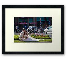 Vietnam. Ho Chi Minh City (Saigon). Bride and Groom. Framed Print