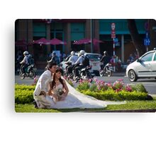 Vietnam. Ho Chi Minh City (Saigon). Bride and Groom. Canvas Print