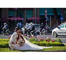 Vietnam. Ho Chi Minh City (Saigon). Bride and Groom. Photographic Print