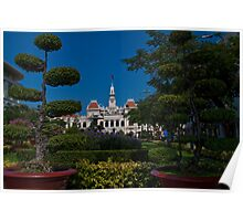 Vietnam. Ho Chi Minh City (Saigon). Former City Hall. Poster