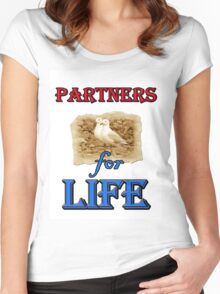 PARTNERS FOR LIFE Women's Fitted Scoop T-Shirt
