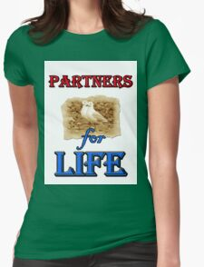 PARTNERS FOR LIFE Womens Fitted T-Shirt
