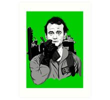 Ghostbusters Peter Venkman illustration Art Print