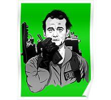 Ghostbusters Peter Venkman illustration Poster