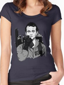 Ghostbusters Peter Venkman illustration Women's Fitted Scoop T-Shirt