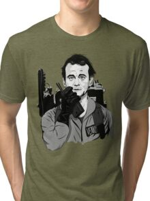 Ghostbusters Peter Venkman Bill Murray illustration Tri-blend T-Shirt