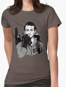 Ghostbusters Peter Venkman Bill Murray illustration Womens Fitted T-Shirt