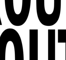 TROUTY MOUTH. Sticker