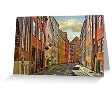 Cobblestone Streets Greeting Card