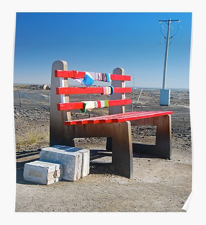 The Big Bench Seat Poster