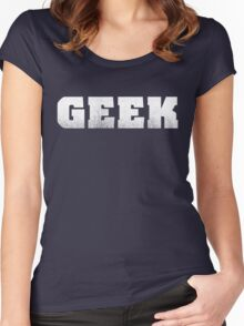 GEEK - White Women's Fitted Scoop T-Shirt