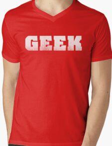 GEEK - White Mens V-Neck T-Shirt