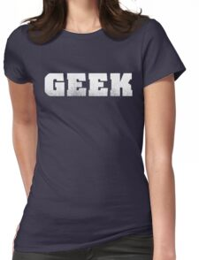 GEEK - White Womens Fitted T-Shirt