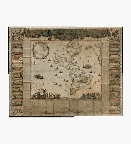 {New map of all America, corrected by F. de Wit} (Amsterdam, 1672) Photographic Print