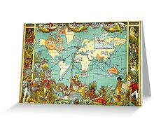 1280px-Imperial_Federation,_Map_of_the_World_Showing_the_Extent_of_the_British_Empire_in_1886_(levelled) Greeting Card