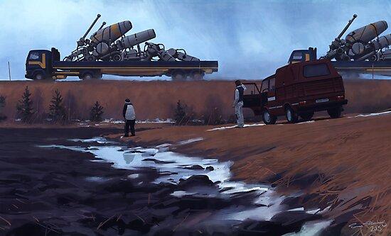 Godstransport, ASG. by Simon Stålenhag