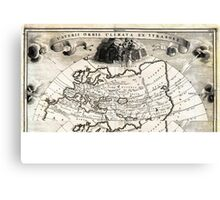 1700 Cellarius Map of Asia Europe and Africa according to Strabo Geographicus OrbisClimata cellarius1700 Canvas Print