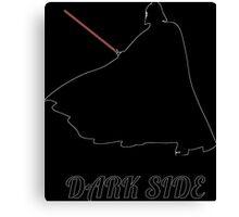 dark side Vader silhouette Canvas Print