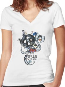 Our Division Women's Fitted V-Neck T-Shirt