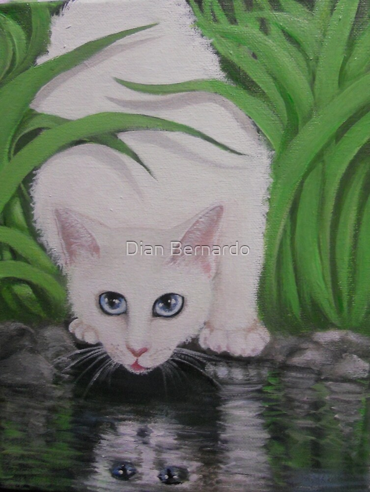 BE CAREFUL NOT TO GET YOUR PAWS WET by Dian Bernardo