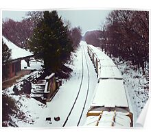 Glyndon Station in Winter Poster