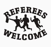 Referees welcome! (Refugees welcome parody) One Piece - Long Sleeve
