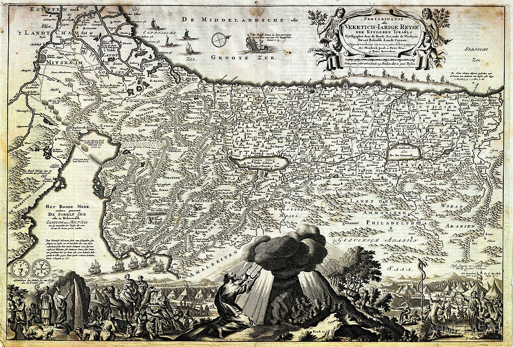 1702 Visscher Stoopendaal Map of Israel Palestine or the Holy Land Geographicus PerigrinatiaeVeertich stoopendaal 1702 by Adam Asar