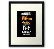 Quentin Tarantino Title Cards Framed Print