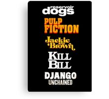 Quentin Tarantino Title Cards Canvas Print