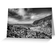 Cot Valley Porth Nanven 3 Black and White Greeting Card