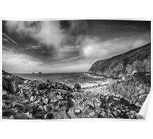 Cot Valley Porth Nanven 3 Black and White Poster