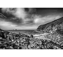 Cot Valley Porth Nanven 3 Black and White Photographic Print
