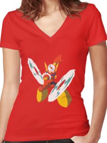 Metal Man Women's Fitted V-Neck T-Shirt