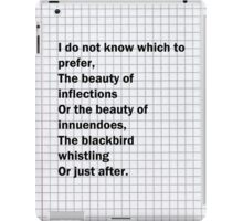 Thirteen Ways of Looking at a Blackbird iPad Case/Skin