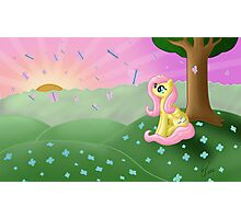Fluttershy's Butterfly Bliss Photographic Print