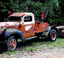 Old Texaco Toll Truck by Tina Hailey