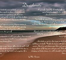 Desiderata Inspirational Poem on Seashore by SpiceTree